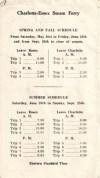 Essex-Charlotte Steam Ferry Brochure