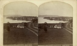 View of Essex, NY from North (Stereoview)