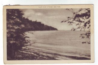 Vintage postcard featuring Bluff Point, Essex, NY. (Sent June 11, 1940)