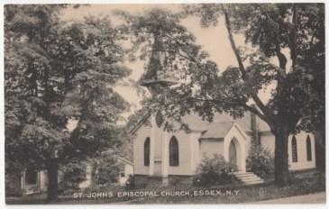 Vintage photo of St. John's Episcopal Church, Essex, NY