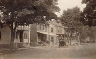 Main Street, Essex, NY with Vintage Car (Credit: Unknown)