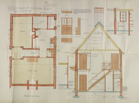 Plan of housing built for Courtauld's workers (D-RH Pb1-16)