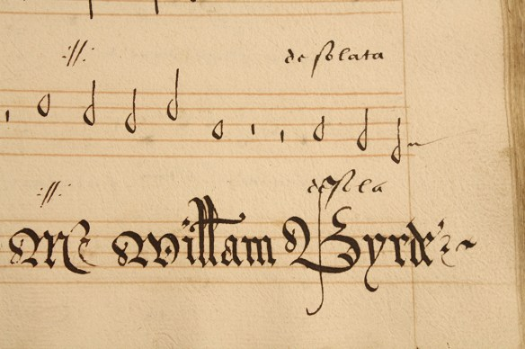 William Byrd's name at the end of the motet