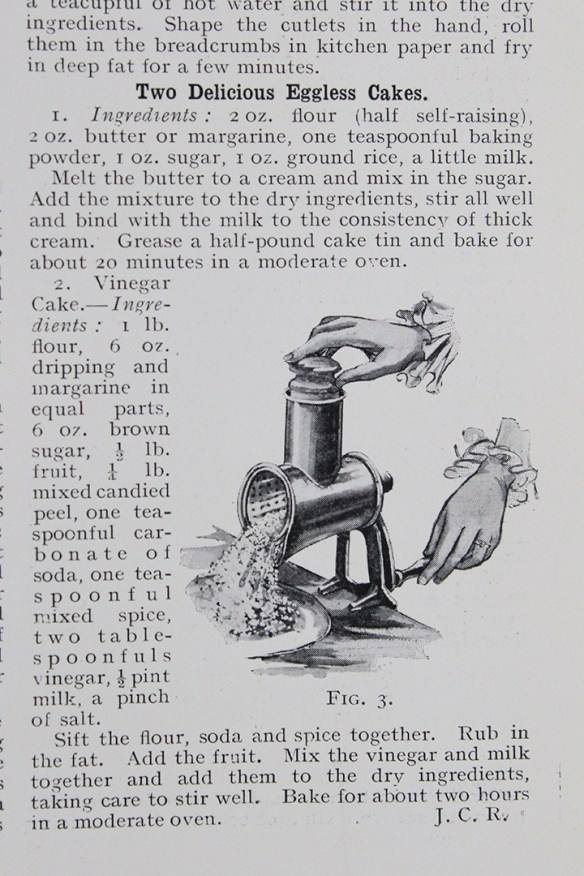 Recipes from the Woman's Page in an early 1918 GER magazine