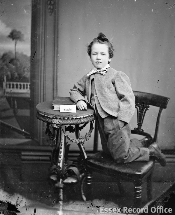 Fred Spalding junior, photographed in his father's studio in Tindal Square in the mid-1860s. (D/F 269/1/3719)