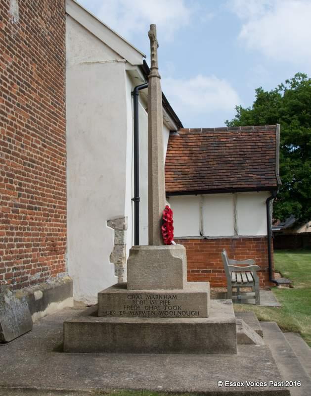 Levington's War Memorial - George Woolnough's name