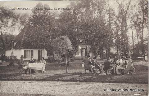 "Afternoon tea at Hardelot. On the back of this postcard, ""my"" nurse had written on 22 June 1916 that she had had afternoon tea in here. This was just mere days before the opening infantry attack of the Battles of the Somme"