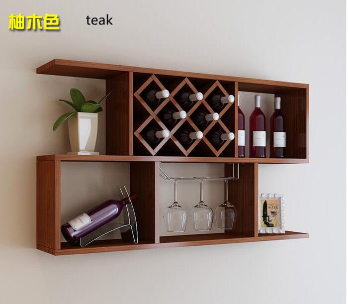 european style wall mounted wine