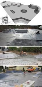 Plans du skatepark de Rosheim