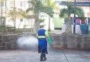 Cidade inicia serviço de desinfecção de ruas e espaços públicos