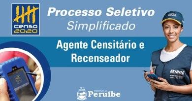 Peruíbe abre inscrições para o Processo Seletivo do Censo Demográfico 2020