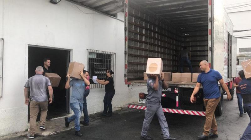 SP envia 15 toneladas de materiais de ajuda humanitária à Baixada Santista após chuvas