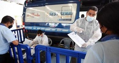 Terminais rodoviários de Praia Grande recebem ações do Sest e Senat sobre transporte seguro de passageiros