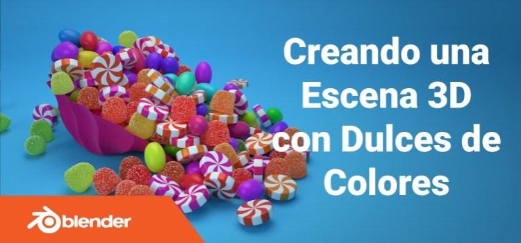 Blender tutorial: Escena 3D con Dulces de Colores