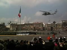 Helicópteros en Zócalo
