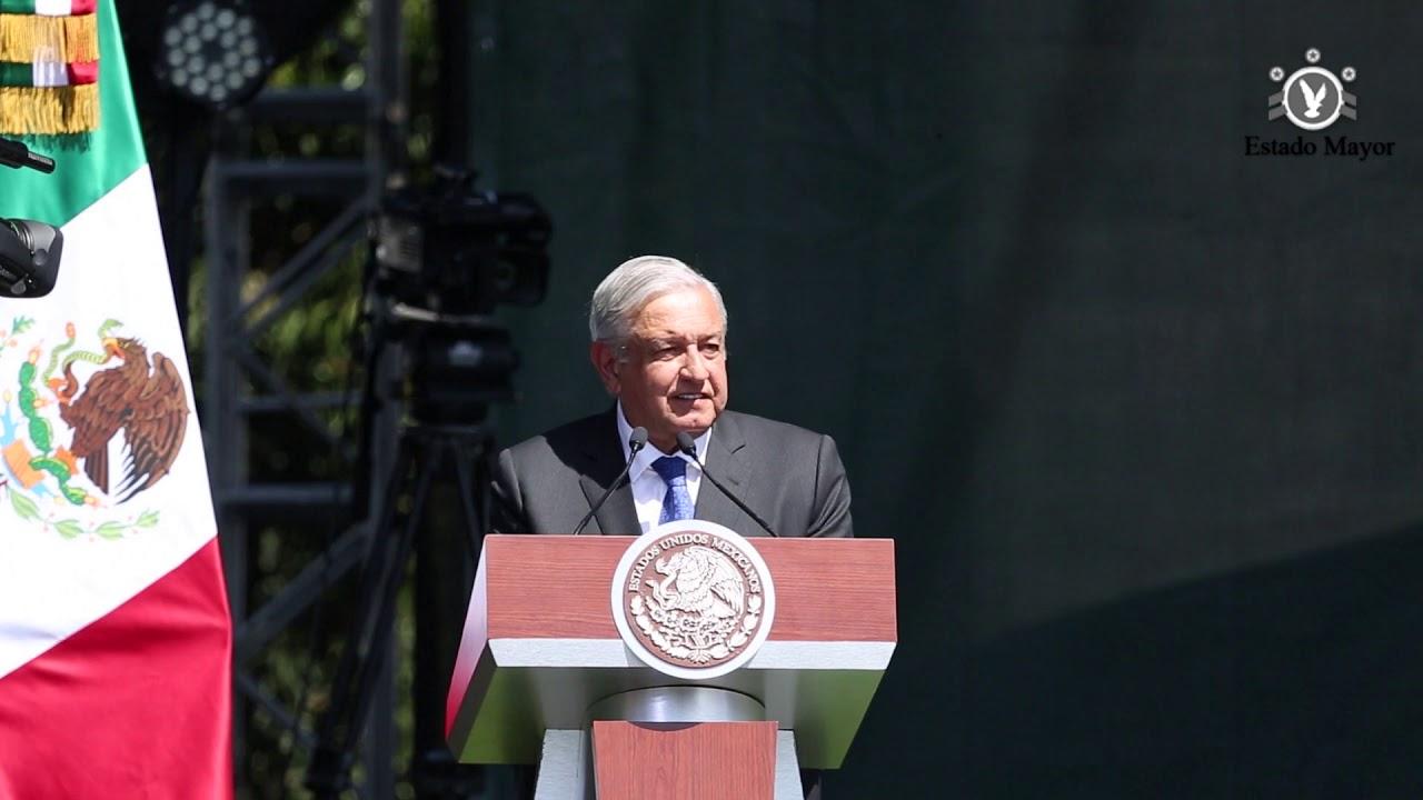 Discurso Presidente López Obrador por el Día del Ejército