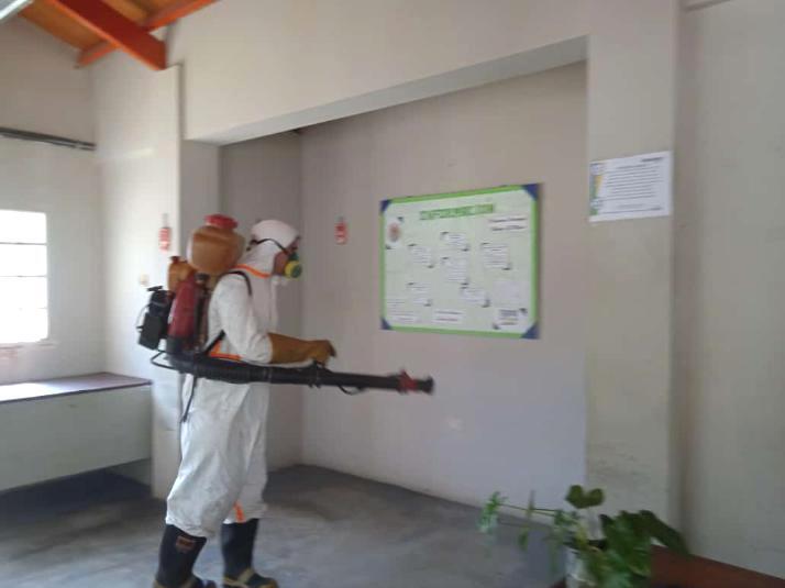 Ambulatorios, espacios culturales y prefecturas fueron desinfectadas con las acciones anti Covid-19