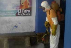 El terminal del Faro de la Puntilla fue desinfectado con el plan de contención del Covid-19