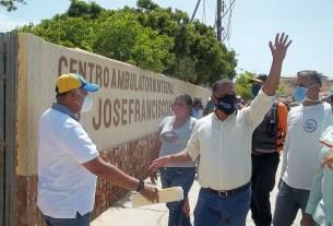 El gobernador Alfredo Díaz llevó dotación al hospital de San Pedro de Coche