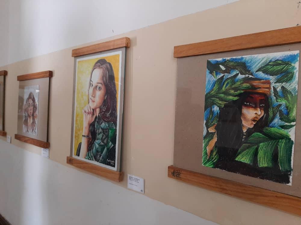 Muestra de las obras de arte.