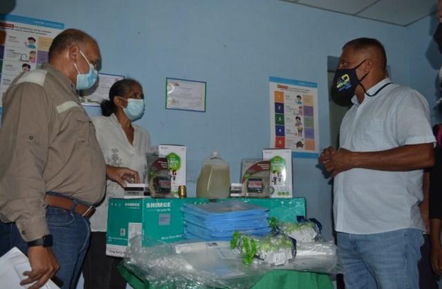 Material y equipos donados por Acnur gracias a la gestión y al empeño del mandatario regional Alfredo Díaz.