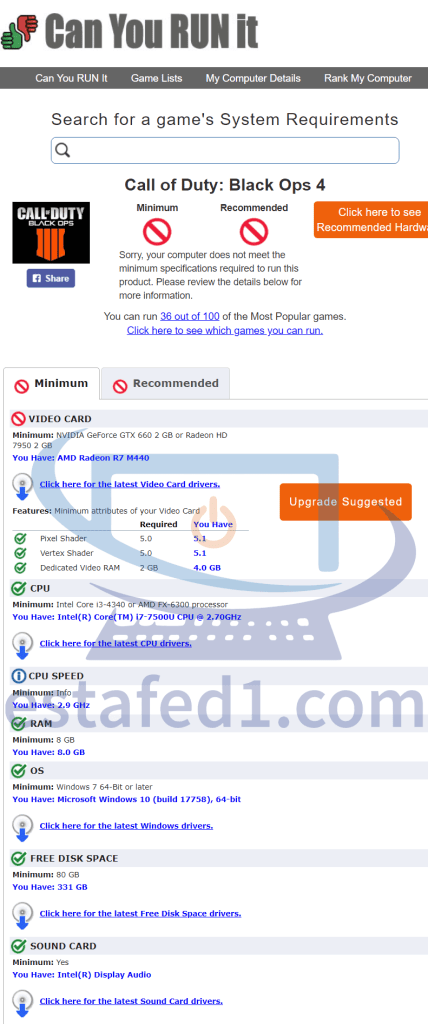 موقع can you run it لمعرفة هل جهازك قادر على تشغيل اللعبة قبل البدء في تحميلها