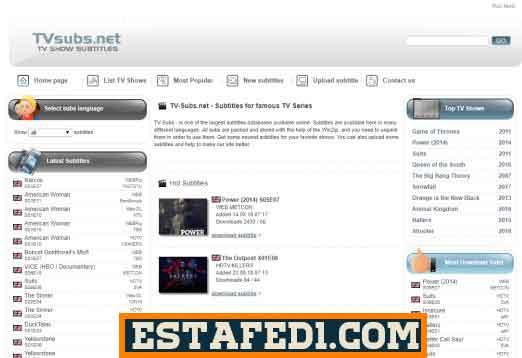 موقع TV-subs لتحميل ترجمات الافلام مجانا باللغة العربية