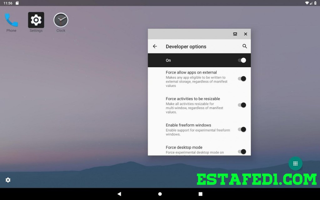 وضع سطح المكتب Android Q