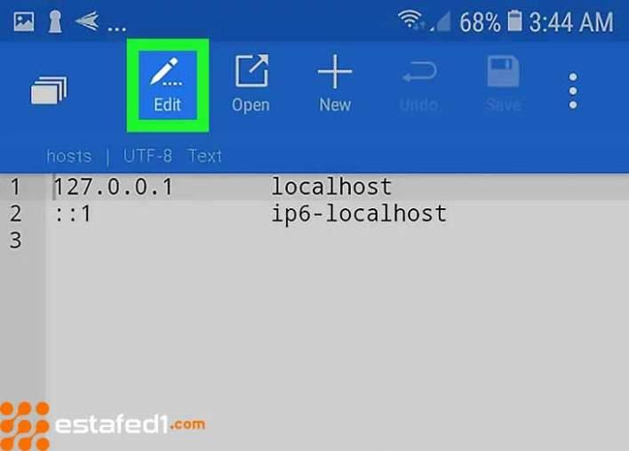 edit hosts file step 12
