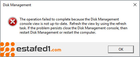 fix Disk Management console view is not up-to-date