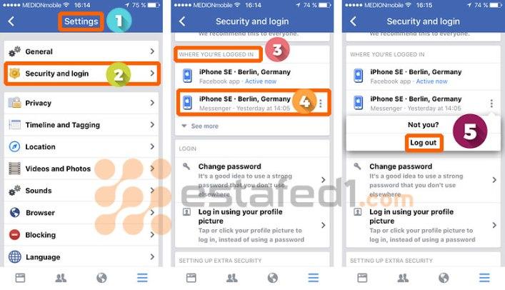 تسجيل الخروج من ماسنجر الفيس بوك على الآيفون