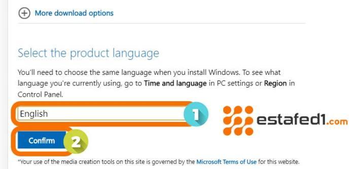 اختيار لغة ويندوز 10