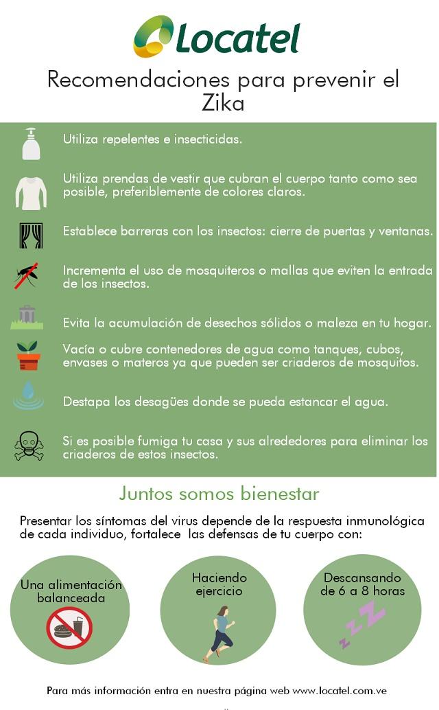 Recomendaciones para prevenir el Zika