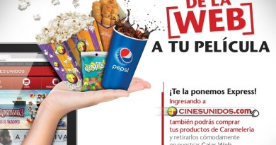 El servicio de caramelería online de CinesUnidos.comahora disponible en 7 ciudades