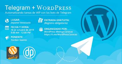 Telegram + Wordpress