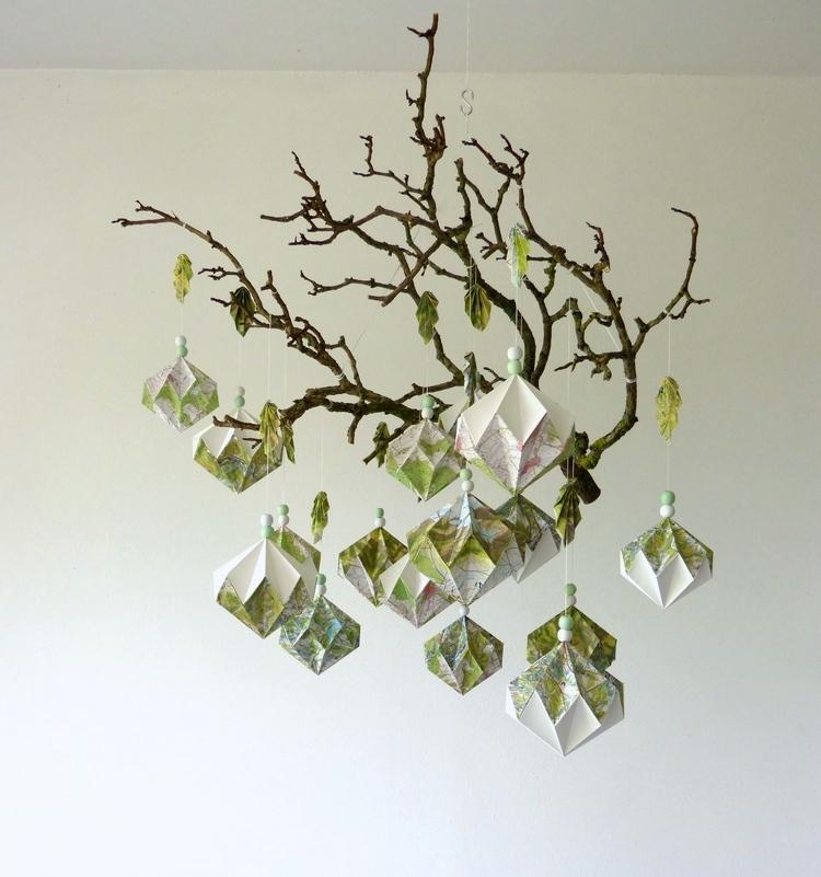 Suspension de diamants verts et blancs (vendu)