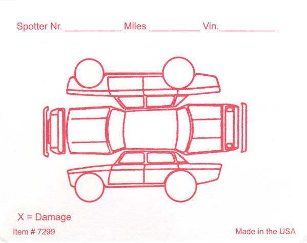 car damage inspection diagram 84 yamaha virago wiring red alert vehicle form buy now estampe