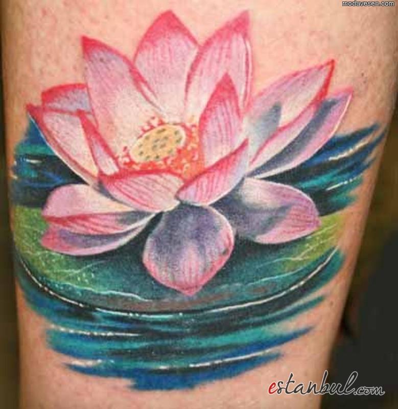 lotus-cicegi-dovmesi-resimleri-ve-fotograflari-resim-2