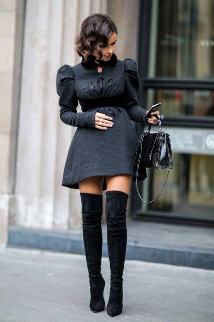 2015-uzun-siyah-çizme-ve-elbise-nasıl-kombinlenir