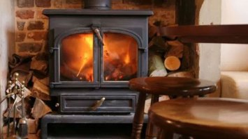 wood burner in cross keys