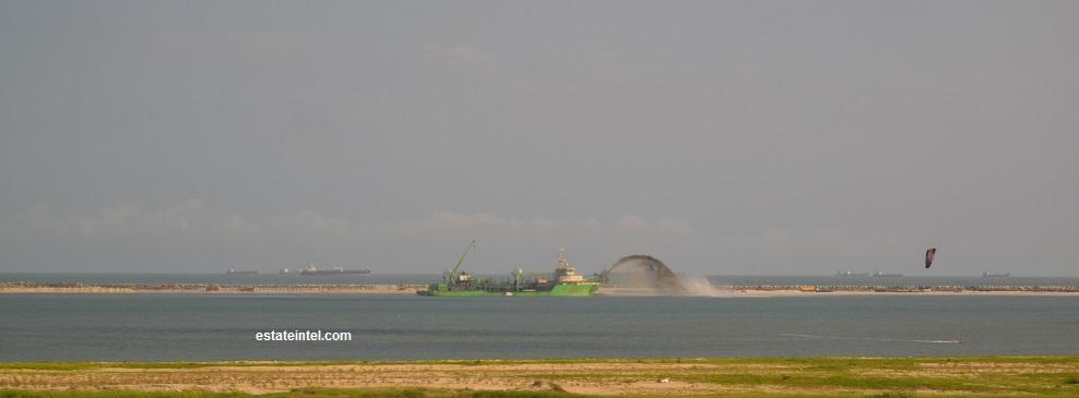 Ongoing Dredging Activity on Eko Atlantic