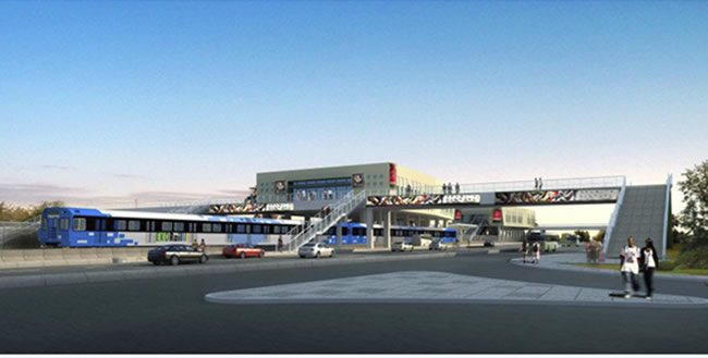 Lagos Urban Rail Network. Blue Line Station. Image Source: Subways.net