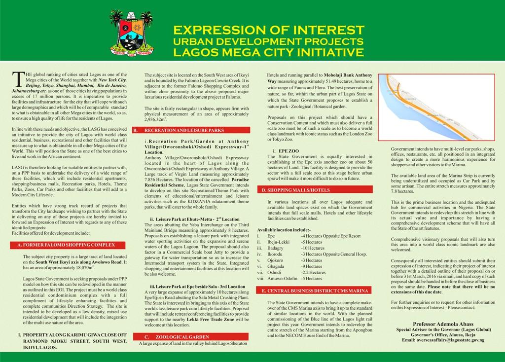 Expression of Interest Communique