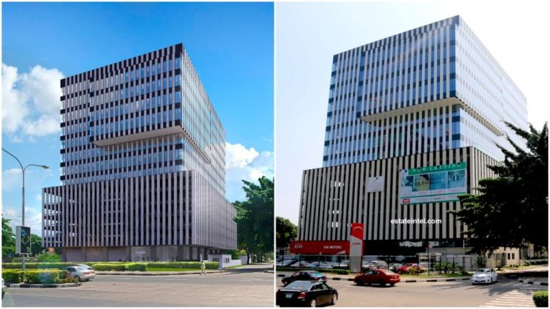 Heritage Place. Computer Generated Image vs Completed/Current Status.vImage Source: Dolapo Omidire.