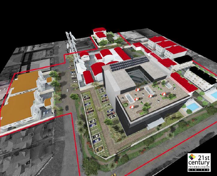 Proposed 21st Century Technologies Campus, Admiralty Way, Lekki Phase 1, Lagos. Image Source: 21st Century.