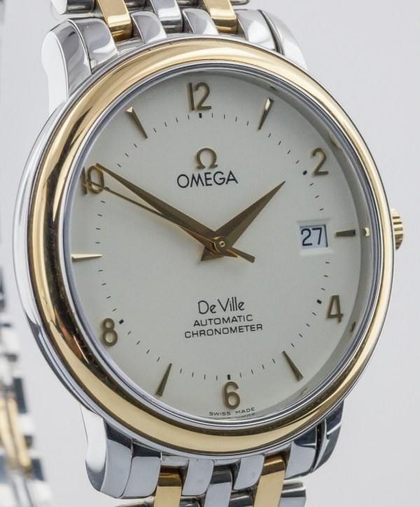 Omega De Ville 18k Yellow Gold And Stainless Steel Mens