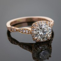 Tacori Engagement Ring, 18K Rose Gold, 1.56 ct Central ...