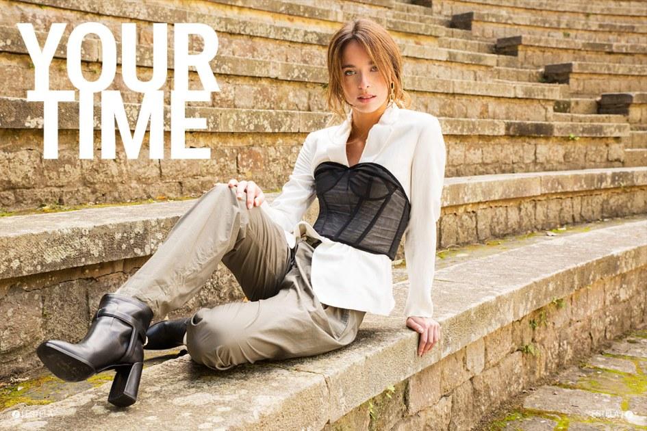 Estela Mag Fashion Digitorial: She Walks in Beauty shot by Estela Mag Fashion Digitorial: Your Time shot by Goizane Jayo