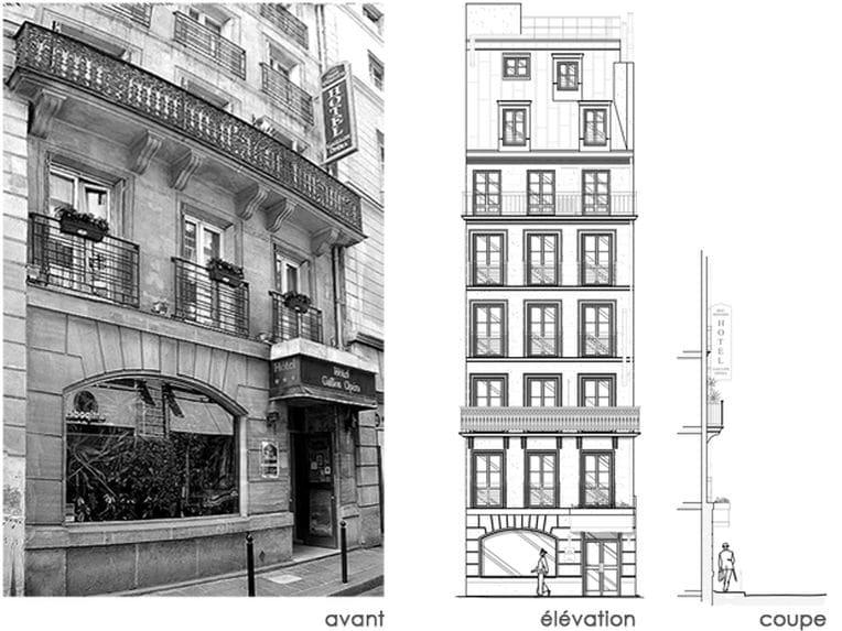 Un h tel op ra estelle chevallier architecte d for Architecte d interieur paris