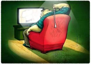 Estupidos frente a la televisión